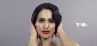 Женската красота през последните 100 години в едноминутно уникално видео
